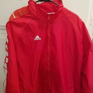 Unique Fire Red Adidas Jacket!